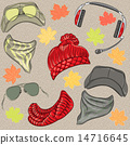 vector set hipster autumn accessories 14716645