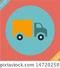 Truck Icon - vector illustration. Flat design 14720250