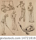 Golf and Golfers - Hand drawn vectors 14721816
