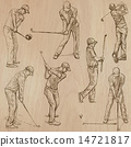 Golf and Golfers - Hand drawn vectors 14721817