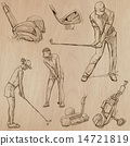 Golf and Golfers - Hand drawn vectors 14721819