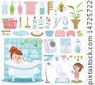洗澡 浴室 矢量 14725722