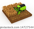 combine, harvester, wheat 14727544