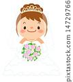 wedding, dress, vector 14729766
