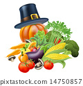 Thanksgiving vegatables illustration 14750857