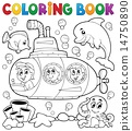 coloring submarine book 14750890