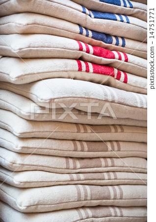Linen chair pillows pile 14751771