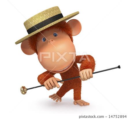 3d monkey dances a step 14752894