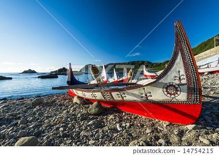 蘭嶼海灣的拼版舟 14754215