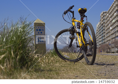 Cycling · Tama Cycling Road 34 km from the estuary 14759032