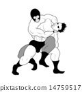 職業摔跤 男子 男人們 14759517