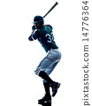 man baseball player silhouette isolated 14776364