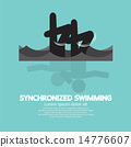 Synchronized Swimming Graphic Symbol 14776607