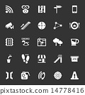 Pathway related icons on gray background 14778416