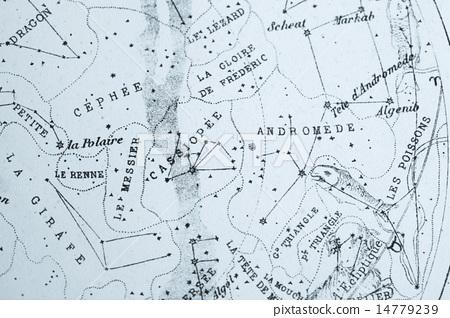 Antique astronomical map 14779239