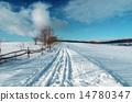 乡村 蓝色 冬天 14780347