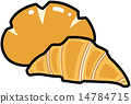 cream, bread, vector 14784715