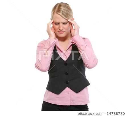 Portrait of woman with headache 14788780