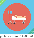 Life icons, hospitalized with serum- vector 14800646