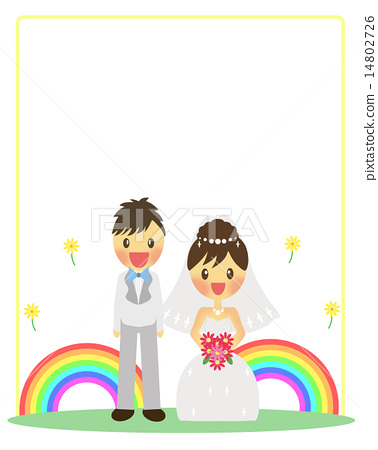 couple, frame, groom - Stock Illustration [14802726] - PIXTA