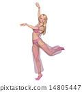 女人 姿勢 跳舞 14805447
