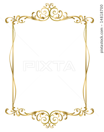 Frame Gold Vector Stock Illustration 14818700 Pixta