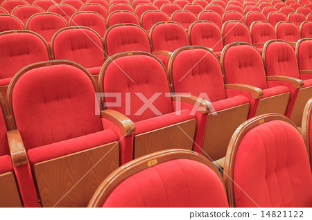 Background of red theatrical red chairs 14821122