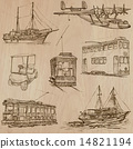Transport pack - Hand drawn vectors, line art 14821194
