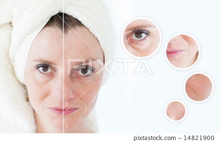 Stock Photo: Beauty concept - skin care
