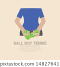 Back Side Of Ball Boy Tennis 14827641