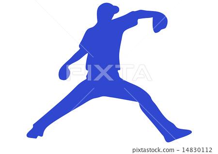 Left-handed pitcher blue 14830112