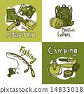 camp, set, illustration 14833018