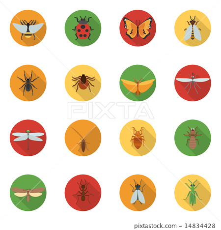 Insects Icons Flat 14834428