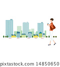 風景城市街道例證 14850650