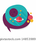 Space planet flat icon with long shadow,eps10 14853989