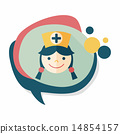 Medical nurse flat icon with long shadow,eps10 14854157