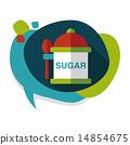 설탕, 아이콘, 평면 14854675