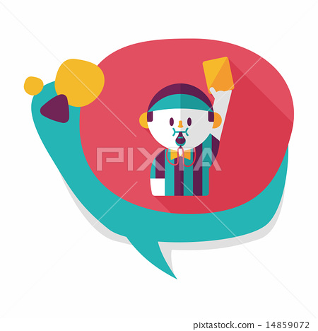 soccer referee flat icon with long shadow,eps10 14859072