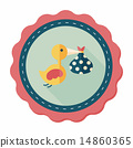 bird and baby flat icon with long shadow,eps10 14860365