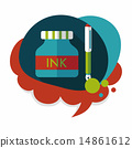 ink, pen, icon 14861612