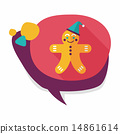 gingerbread man flat icon with long shadow,eps10 14861614