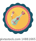 guitar flat icon with long shadow,eps10 14861665