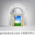 Door to the future concept 14883951
