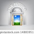 future, door, concept 14883951