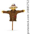 coat, vector, straw 14885752