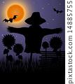 silhouette, scarecrow, black 14885755