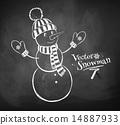Cute snowman 14887933
