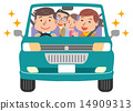Family drive illustration 14909313