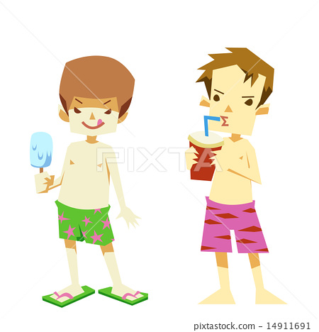 Stock Illustration: vector, baby boy, juices