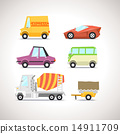 Car Flat Icon Set 5 14911709